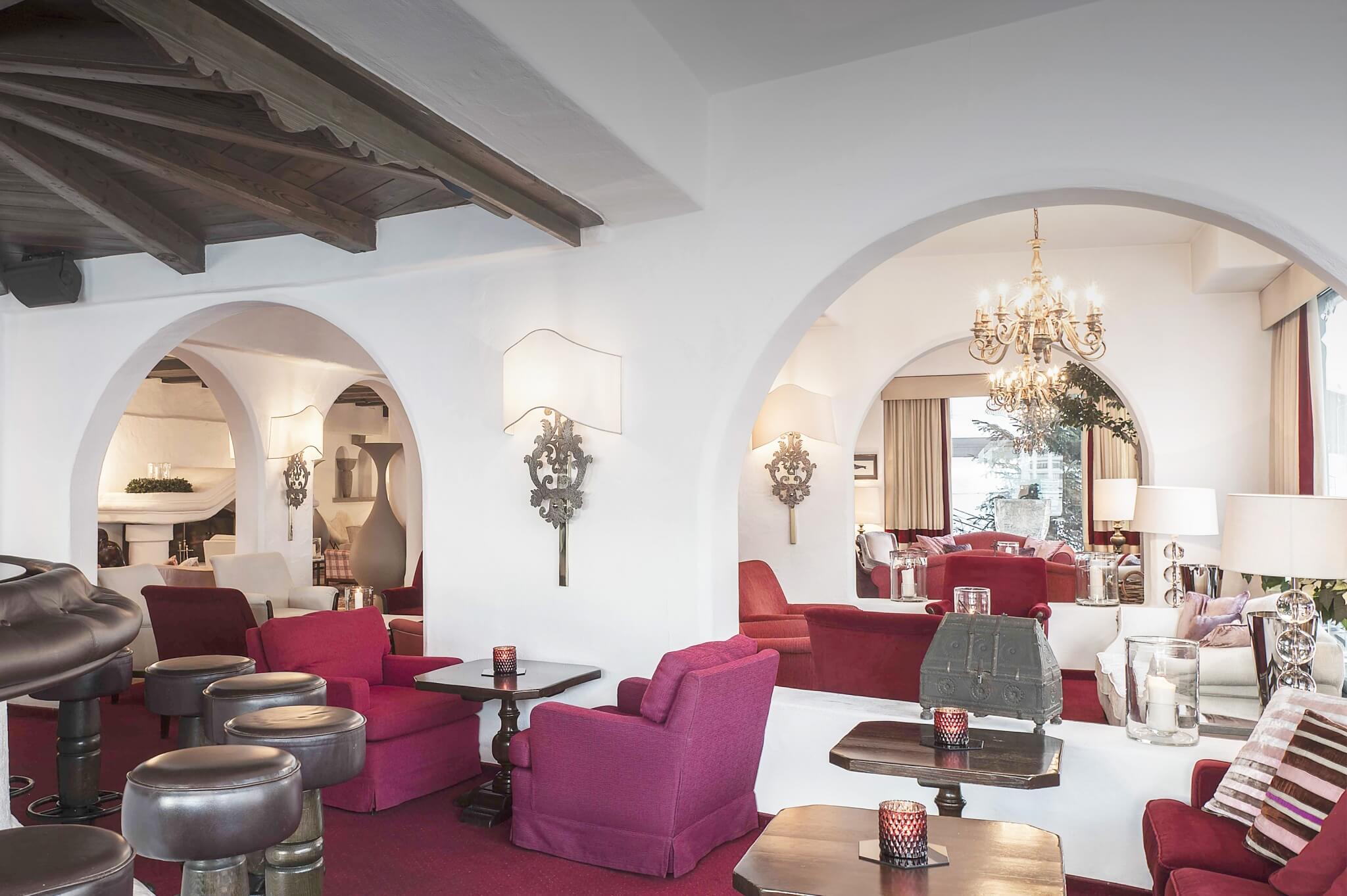 Lobby des Familienhotels Arlberg