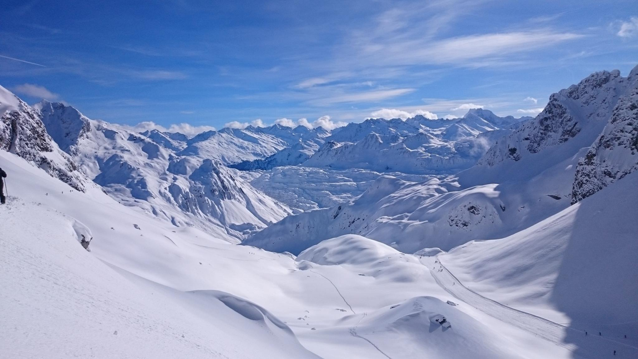 berge schnee familie