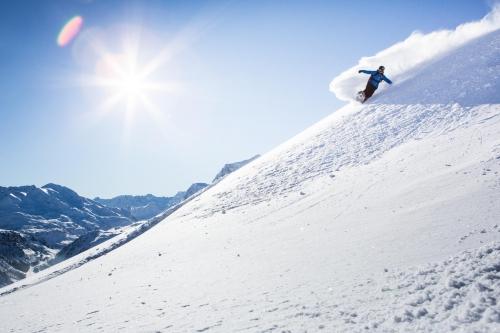 Skifahrer Schnee