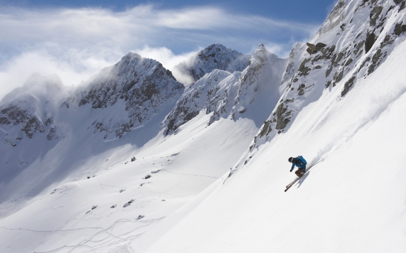Arlberg Skifahrer