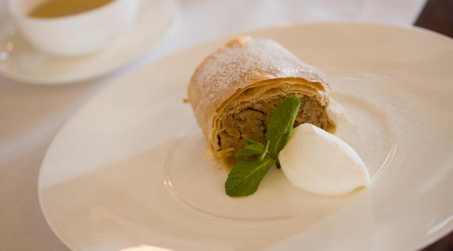 Nachtisch im Hotelrestaurant am Arlberg