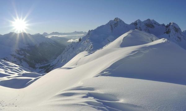 schnee berge