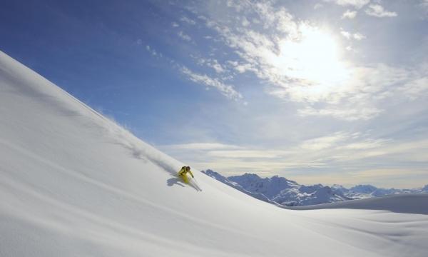 Skifahrer Region Lech Zürs